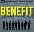 Benefit income profit advantage welfare concept Stock Images