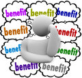 Benefit Thought Clouds Incentives Thinker Competitive Best advantages Royalty Free Stock Photo