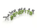 Benefits d green word and black ants Royalty Free Stock Photo