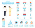 Benefits of drinking water infographics-body water,vector