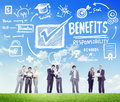 Benefits gain profit earning income business communication conce concept Royalty Free Stock Images