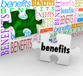 Benefits Hole in Wall Puzzle Piece Complete Unique Selling Poin Royalty Free Stock Photo