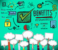 Benefits responsibility rewards goal skill satisfaction concept Royalty Free Stock Photo