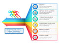 Benefits of running infographics. Healthy lifestyle concept. Infographics Template