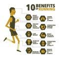 10 benefits of running vector