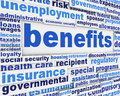 Benefits social support message financial creative poster design Stock Image