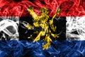 Benelux smoke flag, politico-economic union of Belgium, Nether Royalty Free Stock Photo