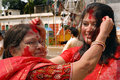 Bengali community at durga festival puja the day long celebration is celebrated all over the world by all speaking people from Royalty Free Stock Photo