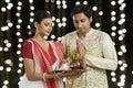Bengali couple praying Royalty Free Stock Photo