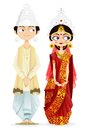 Bengali wedding couple easy to edit vector illustration of Stock Image