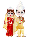 Bengali Wedding Couple Vector Illustration Royalty Free Stock Photo