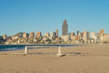 Benidorm beach resort early Stock Images