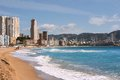 Benidorm city of skyscrapers next to mediterranean beach spain in november Stock Image