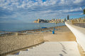 Benidorm poniente beach southern on a sunny morning costa blanca spain Royalty Free Stock Photos