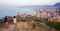 Benidorm skyline , Spain Royalty Free Stock Photo