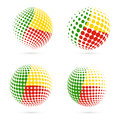 Benin halftone flag set patriotic vector design.