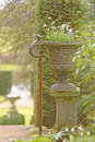 Benington Lordship Garden Urn Royalty Free Stock Photo