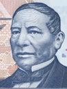 Benito Juarez portrait Royalty Free Stock Photo
