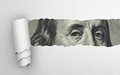 Benjamin franklin face on dollar bill Stock Photos