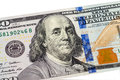 Benjamin franklin portrait from dollars banknote closeup Royalty Free Stock Photography