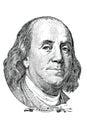 Benjamin Franklin ( vector) Royalty Free Stock Photo