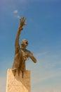 Benkos Bioho monument in main square in San Basilio de Palenque Royalty Free Stock Photo