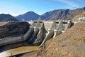 Benmore Dam Spillway, Otago, New Zealand Royalty Free Stock Photo