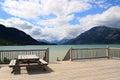 Bennett lake carcross yukon canada near the town of Stock Photo