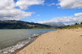 Bennett lake carcross yukon canada near the town of Royalty Free Stock Photos