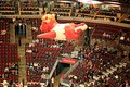 Benny the Bull Over United Center Royalty Free Stock Photo