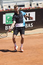Benoit paire plays his first round match against juan monaco at internazionali bnl rome Royalty Free Stock Photo