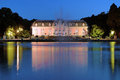 Benrath palace in dusseldorf at evening germany schloss Royalty Free Stock Image