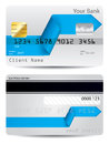 Bent arrow ribbon credit card design Royalty Free Stock Photography