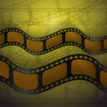 The bent movies on a yellow background Stock Photo