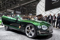 Bentley epx concept car green exp at show in geneva switzerland Royalty Free Stock Image
