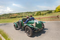 Bentley litre runs in mille miglia drivers on a vintage sport car historical rally on may colle di val d elsa tuscany italy Royalty Free Stock Photos