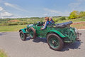 Bentley litre tourer in mille miglia the crew grossmann rose on a classic car travel the country of tuscany during the race on may Stock Photo