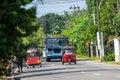 Bentota sri lanka december tuk tuk moto taxi on the street famous thai called is a landmark of country and Royalty Free Stock Image