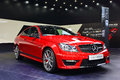 Benz amg c a red mercedes in auto show guangzhou Stock Photography