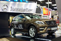 Benz ml cdi matic a brown mercedes in auto show guangzhou Stock Image