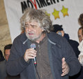 Beppe grillo on stage Royalty Free Stock Images