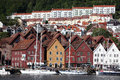 Berben, city in Norway Stock Images