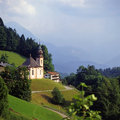 Berchtesgaden germany church maria gern in Stock Photography