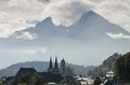 Berchtesgaden with Watzmann Stock Photo