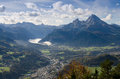Berchtesgaden and Watzmann Stock Photos