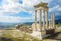 Bergama temple of trajan in the ancient city of pergamon turkey Royalty Free Stock Photo