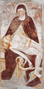 Bergamo - Fresco of Pieta from church Michele al pozzo bianco. Royalty Free Stock Photos