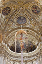 Bergamo - Main apse and cross of cathedral Santa Maria Maggiore Stock Photography