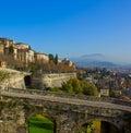 Bergamo old town, Italy Royalty Free Stock Photo
