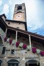 Bergamo Old Town. Piazza Vecchia. Royalty Free Stock Photo